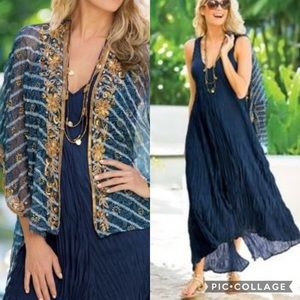 Soft Surroundings La Paz Maxi Crepe Dress & Shrug